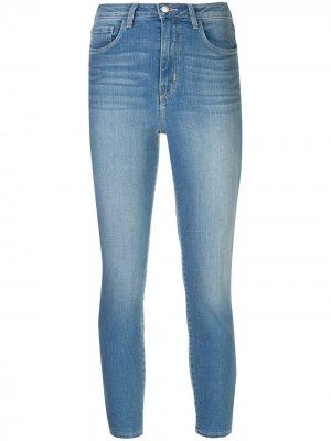 LAgence укороченные джинсы скинни L'Agence. Цвет: синий