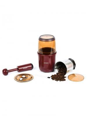 Кофемолка-мультимолка OURSSON. Цвет: темно-бордовый