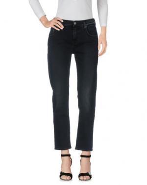 Джинсовые брюки 7 FOR ALL MANKIND. Цвет: стальной серый