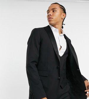Облегающий пиджак-смокинг Tall-Черный Devils Advocate