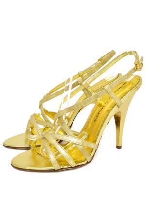 Босоножки Gerardina di Maggio. Цвет: бежевый, золотой