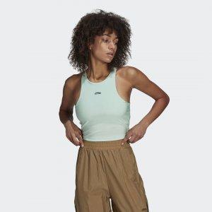 Спортивный бра Originals adidas. Цвет: зеленый