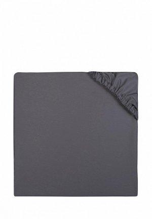 Простыня 1,5-спальная Bellehome Graphite, 120х200x20 см