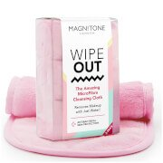 Косметическое полотенце WipeOut! MicroFibre Cleansing Cloth with Antibacterial Protection — розовое (3 шт.) Magnitone London