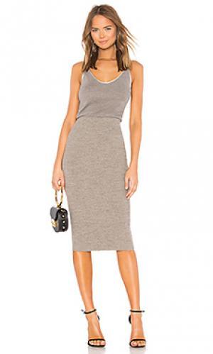 Платье-майка mixed media James Perse. Цвет: серый