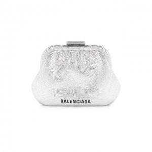 Сумка Cloud Balenciaga. Цвет: серебряный