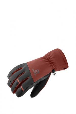 Перчатки Salomon. Цвет: черный, красный