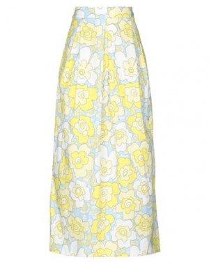 Длинная юбка ANDREA TURCHI. Цвет: светло-желтый