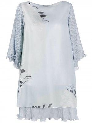 Платье со вставками Giorgio Armani. Цвет: синий