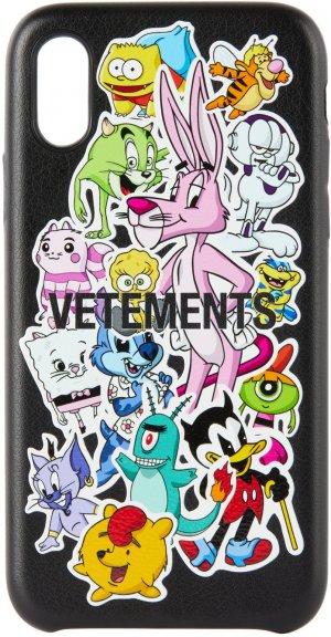 Black Monsters Stickers iPhone XS Case VETEMENTS. Цвет: iphone xs m