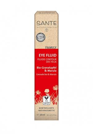 Флюид для кожи вокруг глаз Sante с био-гранатом и марулой, 20 мл. Цвет: прозрачный