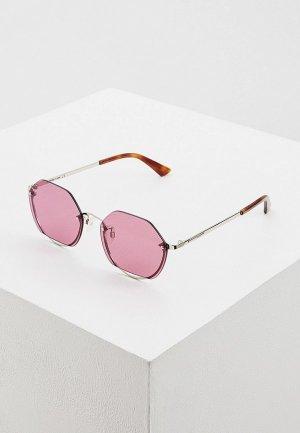 Очки солнцезащитные McQ Alexander McQueen MQ0256SA 004. Цвет: серебряный