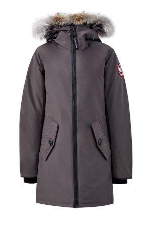Парка Rosemont до −20℃ с мехом койота на капюшоне CANADA GOOSE. Цвет: серый