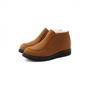 Кожаные ботинки Montelpare Tradition. Цвет: коричневый