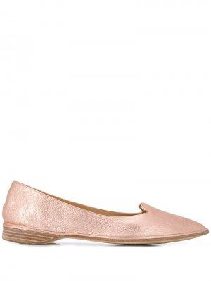 Балетки с заостренным носком Antonio Barbato. Цвет: розовый