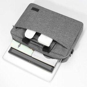 Сумка для ноутбука 13 дюймов SHEIN. Цвет: серый