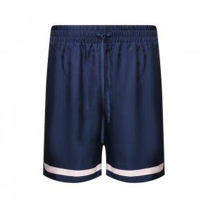 Шелковые шорты Casablanca. Цвет: синий