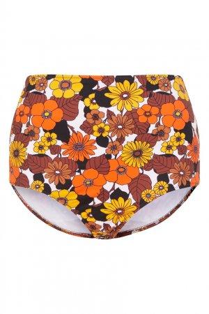 Высокие плавки с цветочным принтом Dodo Bar Or. Цвет: оранжевый