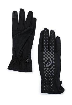 Перчатки ASICS WINTER PERFORMANCE GLOVES. Цвет: черный
