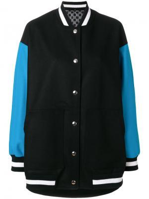 Университетская куртка MSGM. Цвет: чёрный