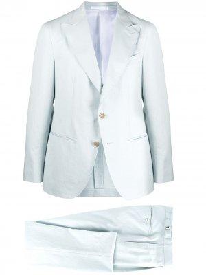 Костюм-двойка с однобортным пиджаком Caruso. Цвет: синий