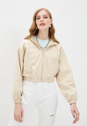 Куртка джинсовая Befree. Цвет: бежевый