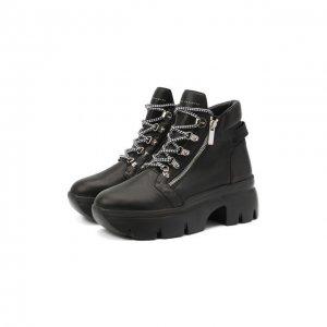 Кожаные ботинки Apocalypse Trek Giuseppe Zanotti Design. Цвет: чёрный