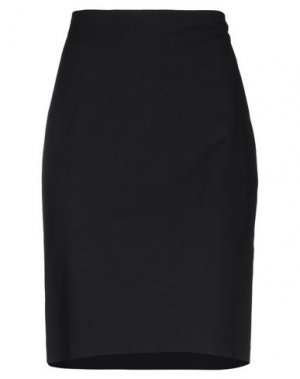 Юбка до колена EMMA & GAIA. Цвет: черный