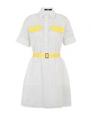 Короткое платье KARL LAGERFELD. Цвет: белый