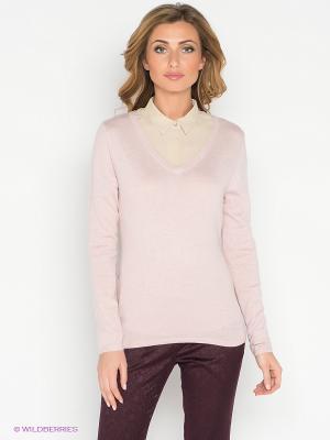 Пуловер La Reine Blanche. Цвет: бледно-розовый