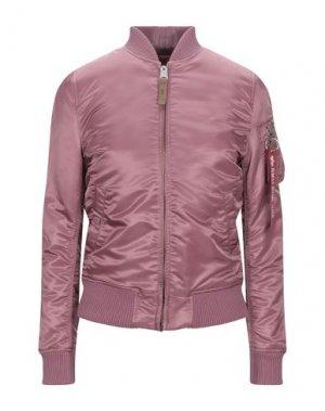 Куртка ALPHA INDUSTRIES. Цвет: пастельно-розовый