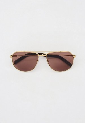 Очки солнцезащитные Prada PR 59WS ZVN05D. Цвет: золотой