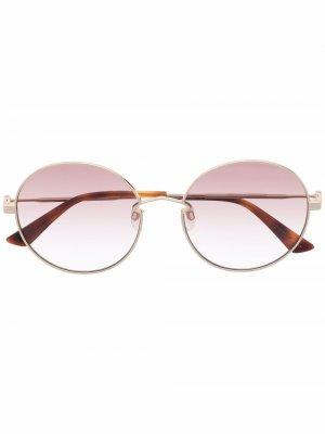 Солнцезащитные очки в круглой оправе Mcq By Alexander Mcqueen Eyewear. Цвет: золотистый