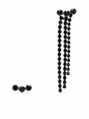 Непарные серьги с кристаллами Isabel Marant. Цвет: черный