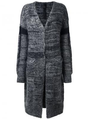 Пальто-кардиган без застежки Ilaria Nistri. Цвет: серый