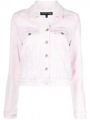 Джинсовая куртка Cara Veronica Beard. Цвет: фиолетовый