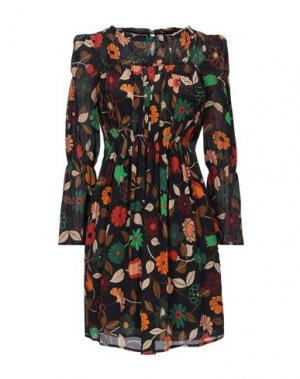 Короткое платье COMPAGNIA ITALIANA. Цвет: черный