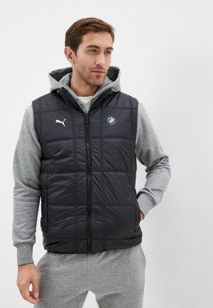 Жилет утепленный PUMA BMW MMS Padded Vest. Цвет: черный