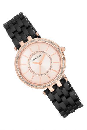 Часы наручные Anne Klein. Цвет: черный, розовый