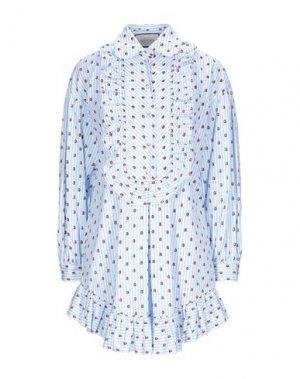 Короткое платье GUCCI. Цвет: небесно-голубой