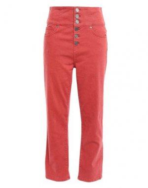 Джинсовые брюки-капри JOIE. Цвет: ржаво-коричневый