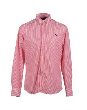Рубашка с длинными рукавами FRED PERRY. Цвет: красный