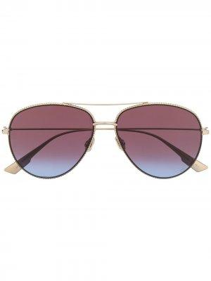 Солнцезащитные очки-авиаторы Diorsociety3 Dior Eyewear. Цвет: золотистый