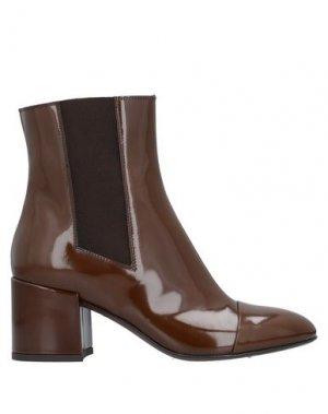 Полусапоги и высокие ботинки AGL ATTILIO GIUSTI LEOMBRUNI. Цвет: какао