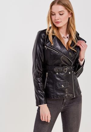 Куртка кожаная Imocean IM007EWASDE4. Цвет: черный