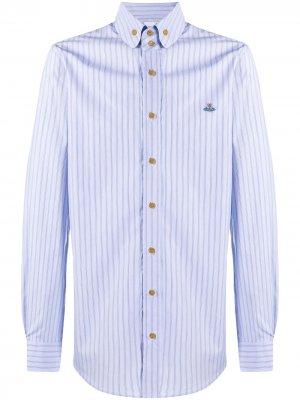 Полосатая рубашка на пуговицах Vivienne Westwood. Цвет: синий