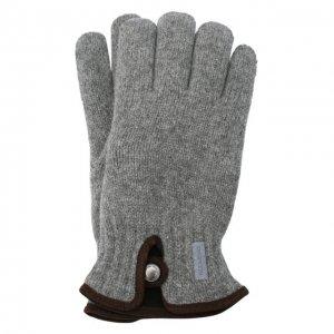 Шерстяные перчатки Paul&Shark. Цвет: серый