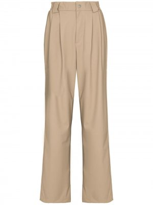 Pleat-detailing straight-leg trousers Rains. Цвет: нейтральные цвета