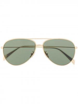 Солнцезащитные очки-авиаторы 02 Celine Eyewear. Цвет: золотистый