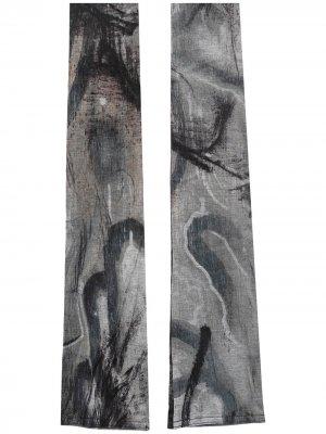 Манжеты с абстрактным узором Yohji Yamamoto. Цвет: серый